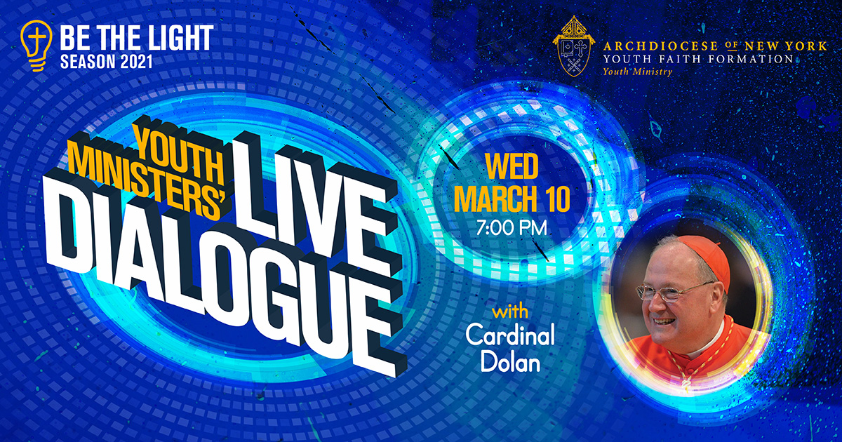 Youth Minister Live Dialogue March 10 at 7PM Graphic